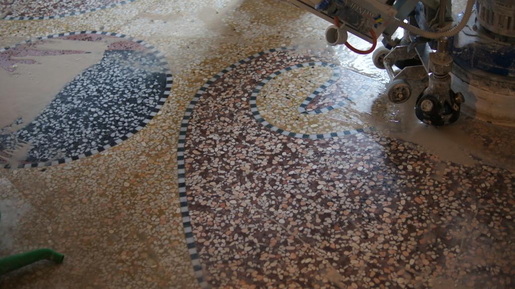 terrazzo veneziano o seminato - gaglio lucidature